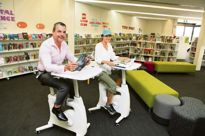 City of Stirling libraries introduce 'reading bikes'.